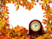 Fall time change — Stockfoto