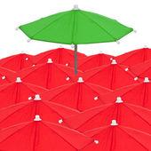 Red umbrellas — Stock Photo