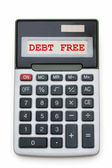 Debt Free — Stock Photo