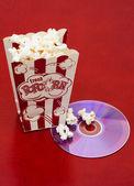 Movie and Popcorn — Stock Photo