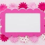 Pink Flower border — Stock Photo