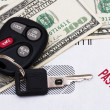 Past due car payment — Stock Photo