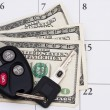 Stock Photo: Car Payment is due