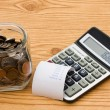 Calculating your expenses — Stock Photo