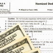 Federal Tax Forms for Items Deductions — Stock Photo #6456964