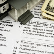 Deduct mortgage interest on taxes — Stock Photo
