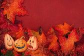 Halloween Fall Border — Stock Photo