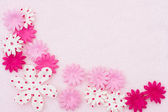 Pink Flower border — Stock Photo