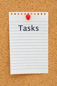 Listado de las tareas — Foto de Stock