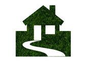 çevre dostu yeşil evleri — Stok fotoğraf