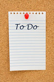 Making your to do list — Stock Photo