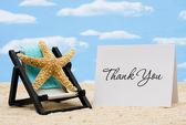 Vděčný za dovolenou — Stock fotografie