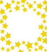Winning Gold Star Border — Stock Photo