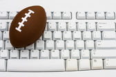 Playing fantasy football — Stock Photo
