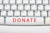 Donate Money Online — Stock Photo