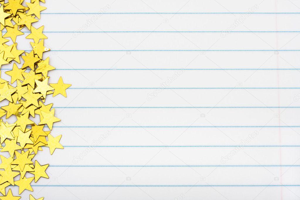 Gold Star Border Photo karenr 6457920 – Lined Border Paper