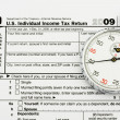 File your taxes on time - Stock Photo