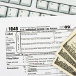 File your tax return online — Foto de Stock