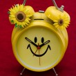 Smiley Clock — Stockfoto