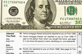 Federal Tax Forms for Items Deductions — Stock Photo