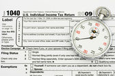 File your taxes on time — 图库照片