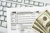 File your tax return online — Stock Photo