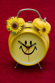 Orologio di smiley — Foto Stock