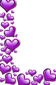Fondo de corazón púrpura — Foto de Stock