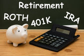 Understanding your retirement — 图库照片