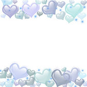 Blue Heart Background — Stock Photo