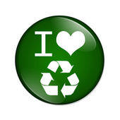 J'adore le bouton de recyclage — Photo