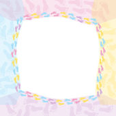 Multi-colored Baby Frame — Stock Photo