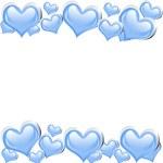 Blue Heart Background — Stock Photo