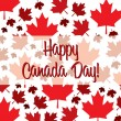 Stock Vector: Happy CanadDay