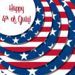 Vector de stock : 4th of July!