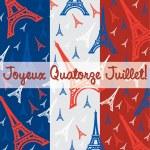 Joyeaux Quatorze Julliet! — Stock Vector
