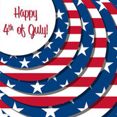 4th of July! — Vector de stock