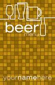 Bier-menü! — Stockvektor