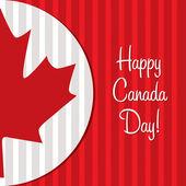 Feliz día de canadá! — Vector de stock