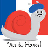 French Snail! — Stock Vector
