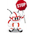 3d character holding stop sign — Stock Photo #5978167