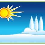 ilustração de sol e neve — Foto Stock