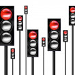 Red Traffic lights — Stock Photo #5978670