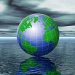 Globe illustration — Stock Photo
