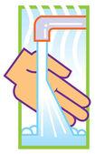 Wash hands illustration — Stock Photo