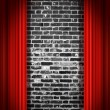 Red drapes - Stock Photo
