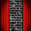 Red Theater curtains — Stock Photo #5981283