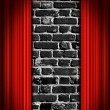 Red Theater curtains — Stock Photo