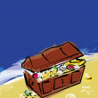 Royalty-Free Stock Photo: Treasure chest illustration