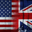 Stars and stripes & union jack - Stock Photo